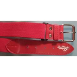 Cinturón rojo elástico
